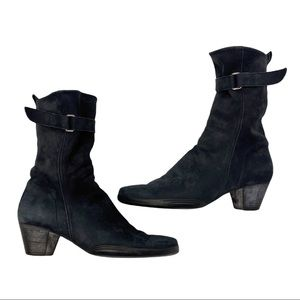 Arche France suede mid top ankle boots
